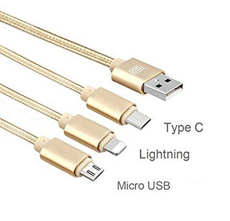Універсальний кабель для зарядки телефонів 3 в 1 (Type c)