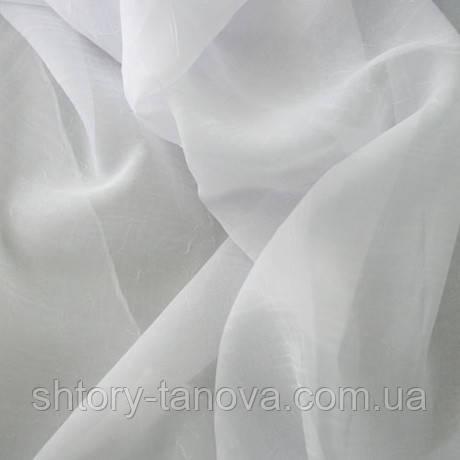 Ткань шифон вуаль креш белая
