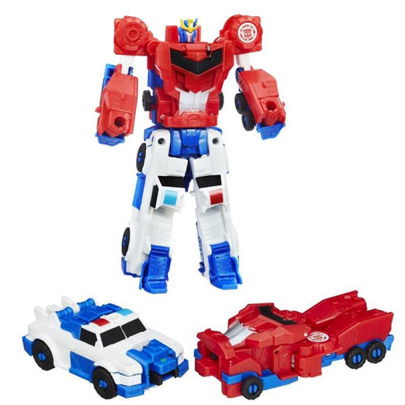 Трансформеры Роботы под прикрытием Крэш комбайнер Оптимус Прайм и Стронгарм Hasbro C0629/C0628