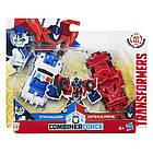 Трансформеры Роботы под прикрытием Крэш комбайнер Оптимус Прайм и Стронгарм Hasbro C0629/C0628, фото 4