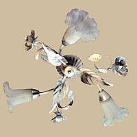 Белая с серебром люстра на три плафона 140/3 WН