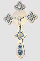 Напрестольный фигурный крест с эмалью