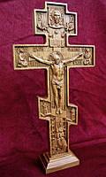 Резной Крест церковный 30см из груши, дуба