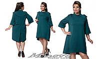 Стильное платье-фрак с погонами