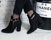 Стильные демисезонные ботинки черного цвета в стиле Гуччи