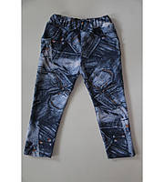 Штаны с начесом, джинс-стреч, рост от 80 до 116 см