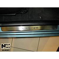 NataNiko Накладки на пороги для MITSUBISHI Lancer IX '03-09 (Комплект 4 шт.)