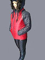 Зимний  костюм женский на синтепоне и овчинке с 44 по 50р.