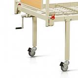 Медицинская двухсекционная кровать OSD93V+OSD-90V с колесами, фото 2