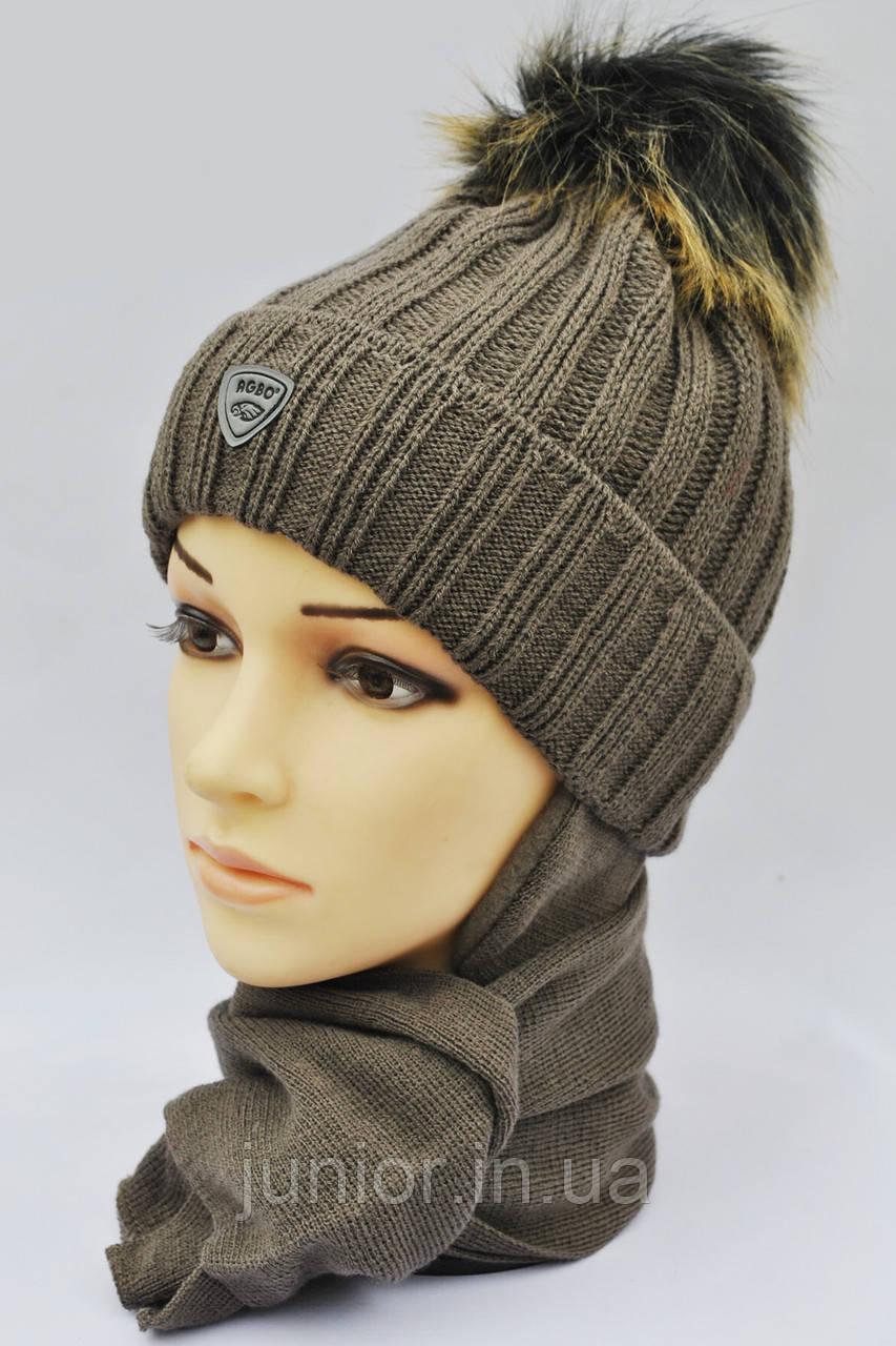 Модная зимняя шапочка на флисе Agbo . Польша
