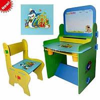 Детская парта и стульчик MQ 0809 с мольбертом и полочками КИЕВ