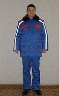 Куртка мужская на синтепоне зимняя утеплённая с меховым воротником (купить или заказать пошив)