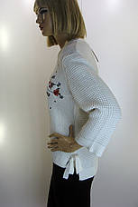 Жіночий светр з вишивкою Park hande, фото 3