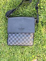 Сумка мужская Louis Vuitton D2140 серо-черная