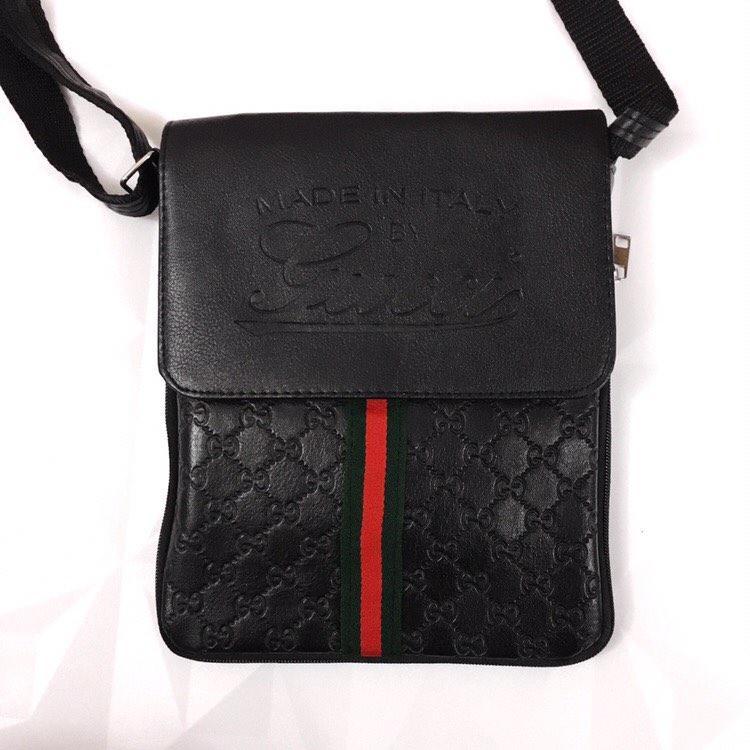 Сумка мужская GUCCI D2145 черная - Брендовая одежда от интернет-магазина «Trendy Shop» в Харькове