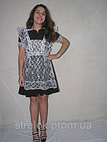 Школьное платье на молнии с фартуком