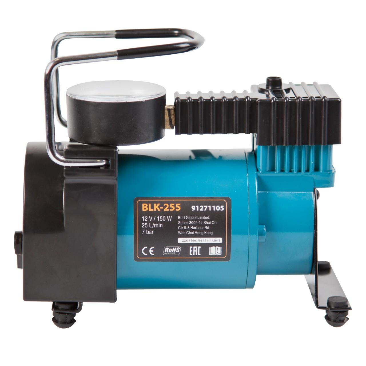 Автомобильный насос-компрессор, 12В, 150Вт 7бар 25л/мин BLK-255, сумка