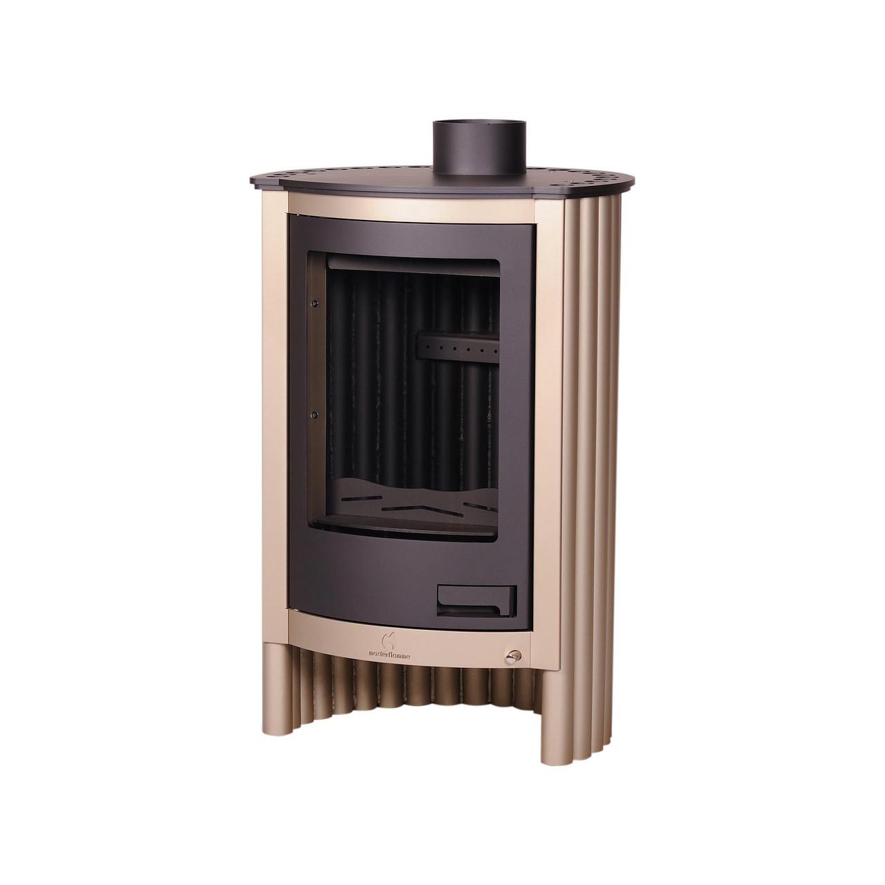 Отопительная печь-камин длительного горения Masterflamme Piccolo I (кремовый металлик)