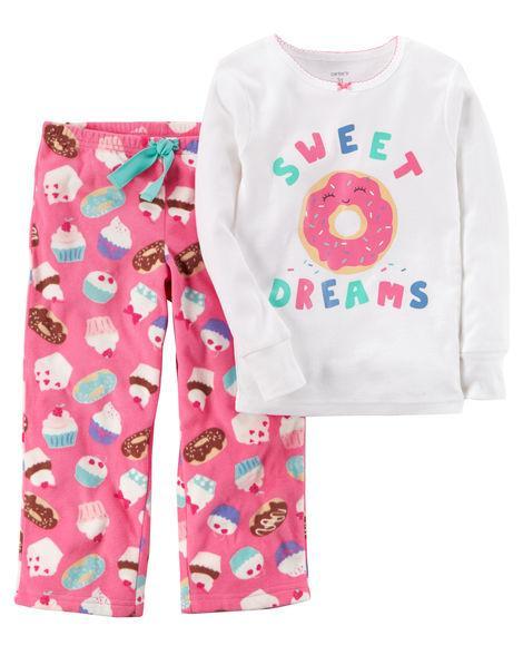 Пижама хлопок+флис Carters Пончик 2Т,3Т,4Т