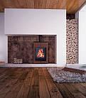 Отопительная печь-камин длительного горения AQUAFLAM VARIO SAPORO (коричневый бархат), фото 5
