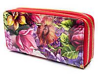 Стильный женский  лакированный кошелек-клатч с цветочным принтом Helen Verde (Хелен Верде) 2547