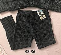 Женские брюки лосины на меху с карманами
