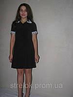 Школьное платье на пуговицах