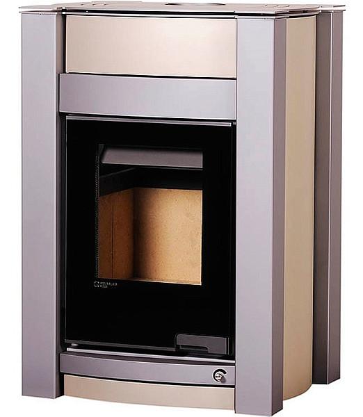 Отопительная печь-камин длительного горения AQUAFLAM VARIO KALMAR (кремовый металлик)