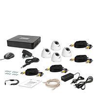 Комплект AHD видеонаблюдения на 4 купольные камеры Tecsar 4OUT-DOME