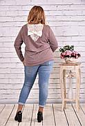 Женская блуза с вышивкой 0619 / размер 42-74 цвет бежевый, фото 4