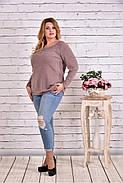 Женская блуза с вышивкой 0619 / размер 42-74 цвет бежевый, фото 3