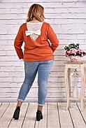 Женская блуза с вышивкой 0619 / размер 42-74 цвет терракот, фото 4