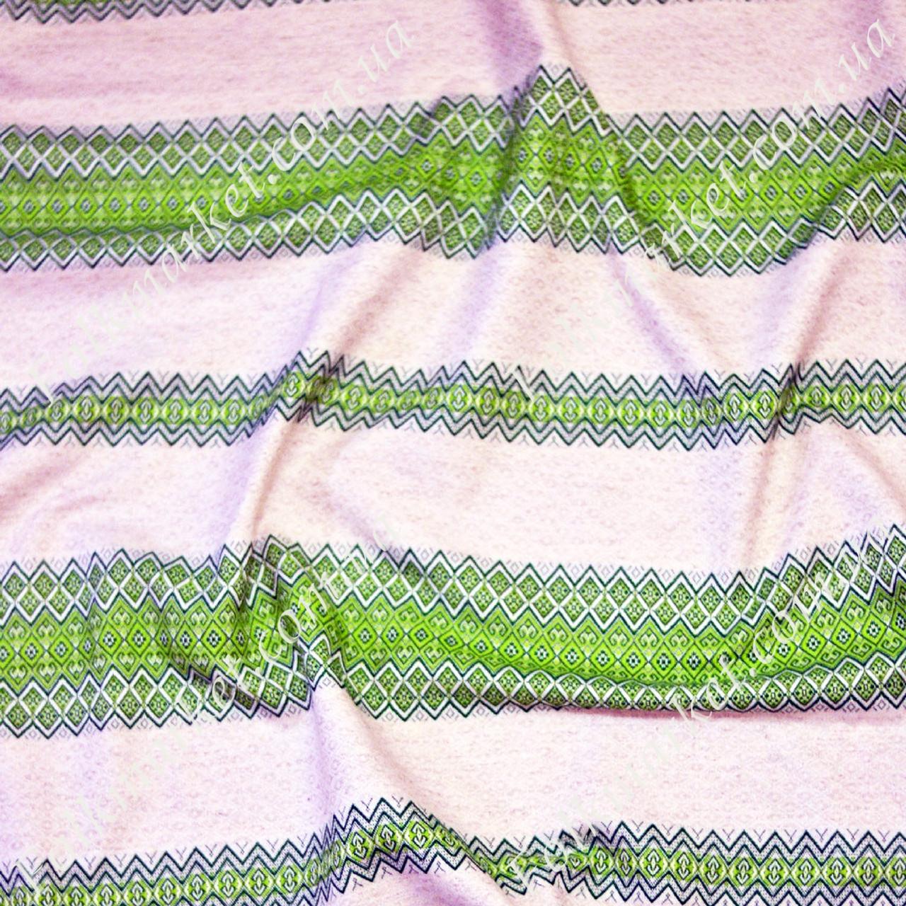 Декоративная ткань для скатертей с украинским орнаментом Проминь
