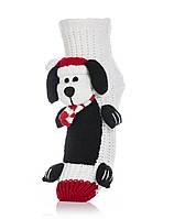 Носочки теплые с собачкой. Символ 2018 года! Attractive Christmas Dog1