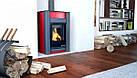 Отопительная печь-камин длительного горения AQUAFLAM VARIO KALMAR (красный), фото 8