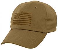 Бейсболка тактическая Rothco Tactical Operator Cap With US Flag Coyote 4639
