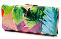 Стильный женский кошелек с внешней монетницей в цветочном принтом Helen Verde (Хелен Верде) 2029T