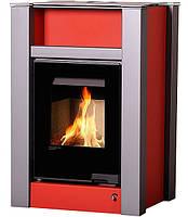 Отопительная печь-камин длительного горения AQUAFLAM VARIO LEND (водяной контур, красный)
