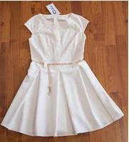 Нарядное белое подростковое платье 366