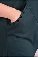 Женская ассиметричная туника 0612 цвет зеленый / размер 42-74, фото 3