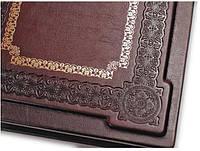 Книга почетных гостей искусственная кожа тиснение блинтовое, кожанная книга для записей