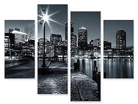 Модульна картина чорно-біле місто