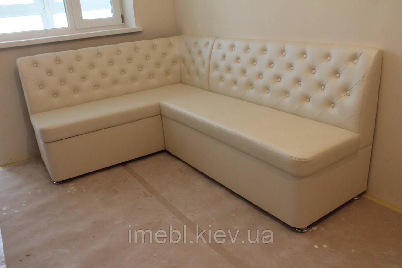 Угловой диван для кухни (Молочный)