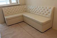 Кутовий диван для кухні (Молочний), фото 1
