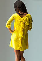 Шифоновое платье коктейль желтое