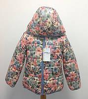 Куртка демисезонная итальянская для девочки Bimbus Цветы ba642c661465a
