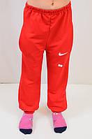 Спортивные трикотажные штаны с логотипом Найк, для девочки