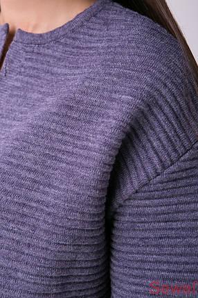 Женский вязаный костюм с юбкой и кофтой, фото 2