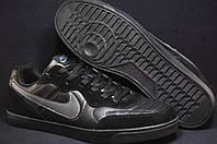 Nike черные кожаные мужские кроссовки,кеды Вьетнам