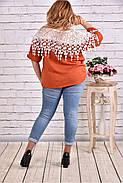 Женская блуза макраме 0608 / размер 42-74 цвет терракот , фото 4